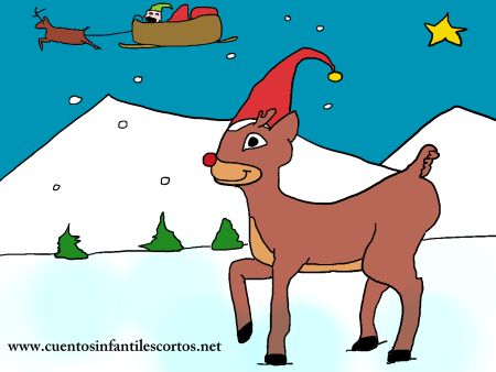 Short stories - santa claus sleepy reindeer