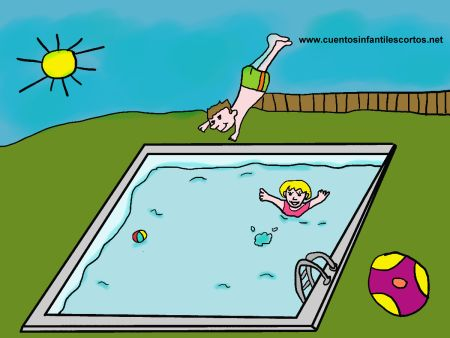 Short stories - The children and swimming pool