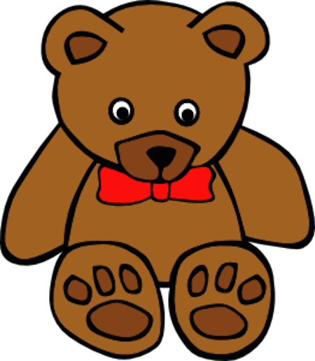 Simple Teddy Bear with Bowtie