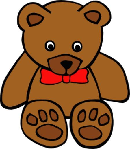 Simple Teddy Bear with Bowtie